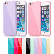 FOR iPHONE 8 7 6S Plus PASTEL CANDY GLOSS SHINY SOFT SILICONE CASE COVER