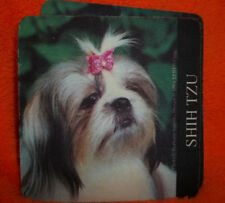 SHIH TZU  DOG ON COASTER SET OF 4  WITH MATCHING MAGNET. DATED 1994 EPRESS CORP