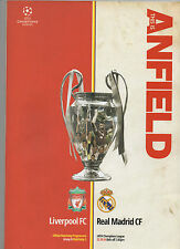 Liverpool v Real Madrid 22/OCT/14 Champions League Match Programme Mint Con*