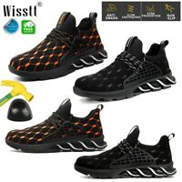 Construction Indestructible Shoes Mens Cushioned Steel Toe Cap Work Safety Boots