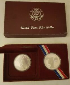 1983 and 1984 US Silver dollar set for the 1984 Los Angeles Olympics