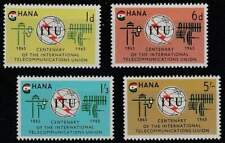 Ghana postfris 1965 MNH 210-213 - International Telecommunication Union