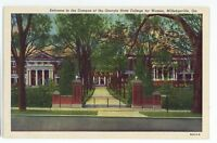 Georgia State College for Women Entrance MILLEDGEVILLE GA Vintage Postcard 2