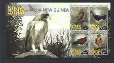 PAPUA NEW GUINEA 2017 BIRDS SHEETLET OF 4 UNMOUNTED MINT, MNH