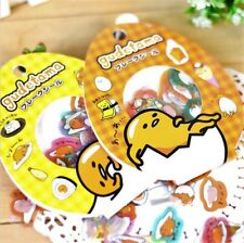 Kawaii Stickers Lot 60 Flakes Sanrio Gudetama Egg Cute Japanese Seal DIY Memo