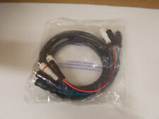 All Systems Broadband Cable Mini 5 Component Cable W/White Audio Connectors 6',