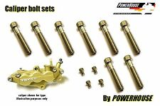 Suzuki GSXR 1000 K1-2 Stainless joint bolt set Tokico 6 pot front brake calipers