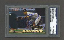Paul Konerko signed Chicago White Sox 2001 Fleer Ultra baseball card Psa