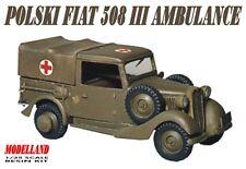 POLSKI FIAT 508 MILITARY AMBULANCE - POLAND 1939 1/35 MODELLAND
