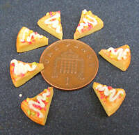 1:12 Scale Seven Pizza Slices Dolls House Miniature Kitchen Food Accessory Bread
