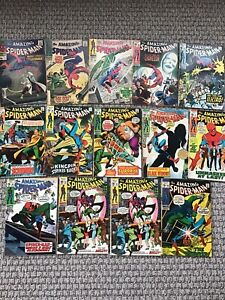 AMAZING SPIDER MAN 14 SILVER AGE ISSUE LOT - NICE BOOKS! NO RESERVE! LOOK!
