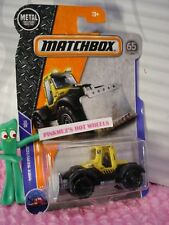 2018 MATCHBOX #51 PLOWVERIZER tractor☆yellow/black;ICE PLOW☆SERVICE☆65TH☆Case C
