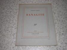 1928.Banalité / Léon-Paul Fargue.envoi autographe.ex.du SP sur pur fil.Bon ex