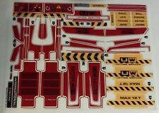 8258 Technic Aufkleber für  Lego LKW NEU