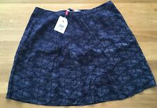 Bnwt Crew Clothing Ladies Amberlilly Navy Coast Nautical Skirt Size 16