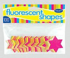Fluorescent Neon Stars - 100 Pack 42mm Stars Markets Shops Car Boot Sales