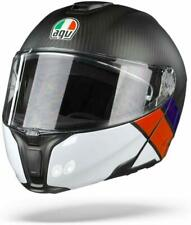 CASCO MODULARE AGV SPORTMODULAR LAYER CARBON - RED - BLUE TAGLIA L
