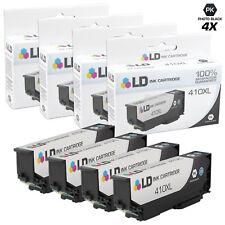 LD REMAN Epson T410XL120 Photo Black Ink Set of 4 for XP-530, XP-630, XP-640