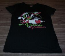 Women's TEEN Looney Tunes SANTA MARVIN THE MARTIAN CHRISTMAS T-Shirt LARGE NEW