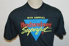 Vintage 1980s 10th annual  Budweiser superfest T-Shirt made in USA size XL