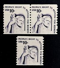 US Stamps, Scott #1617 XF M/NH 1977 Coil Pair & single Contemplation of Justice