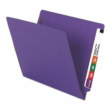 Smead 25550 File Folder End Tab, 2 Fastener, Purple, Pk50