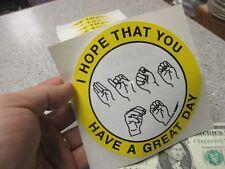 10 Qty SIGN LANGUAGE JOKE bumper stickers wholesale novelty signing lot