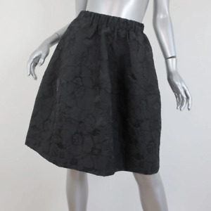 Co Skirt Black Floral Jacquard Size Small