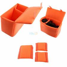 Camera Bag Insert Partition Padded Folding Divider Case Shockproof Orange Gbd