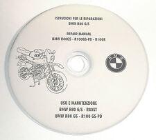 CD MANUALE OFFICINA RIPARAZIONE MANUTENZIONE BMW R80GS-G/S-R100GS-PD-R100R(LEGGI