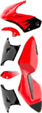 Full Fairing Body Kit POCKET BIKE FULL 6 PIECE SET NEW RED/BLACK BLACK/WHITE BLU