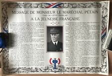 LOT DE 4 AFFICHES DE PROPAGANDE  MARECHAL PÉTAIN