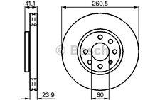 BOSCH Juego de 2 discos freno Antes 260mm ventilado OPEL CORSA 0 986 478 730