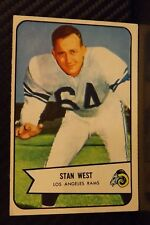 1954 Bowman #103 Stan West Los Angeles Rams / Oklahoma Sooners (A)