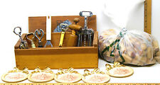 Wine Corkscrews+Cork Lot+Bottle Openers+5 Vintage Painted Coaster Florence Italy
