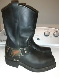 Red Wing 969 Men's Harness Motorcycle Boots size 8 1/2 D Ex Condition Made USA