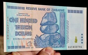 50 TRILLION Uncirculated ZIMBABWE DOLLAR AA 2008 for Collectors Lot of 3 Notes