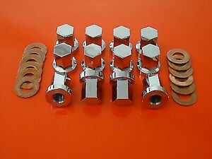 Kawasaki Z1000 Z1R 12x Stainless Steel Cylinder Head Nuts & Copper Washers KZ