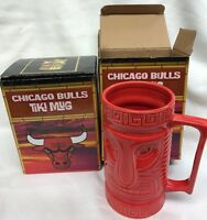 Two Chicago Bulls Tiki Cup Mugs Stadium Giveaway SGA 1/7/16 NIB NBA Basketball