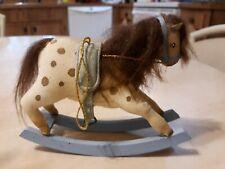 GLADYS BOALT 1979 FOLK ART ROCKING HORSE ORNAMENT SIGNED