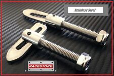 BABY DROPDOWN TAILGATE LATCH 40mm BOLT, STAINLESS, (Pair) Camper Trailer Truck