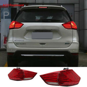 New For Nissan Rogue All Led Tail Lights Assembly 2014-2019 Red Color Rear Lamps