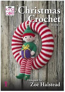 King Cole Pattern Book - Christmas Crochet Book 4