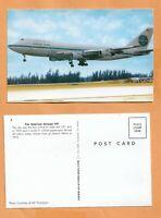 FIRST FLIGHT PAN AMERICAN AIRWAYS BOEING 747 VINTAGE POSTCARD