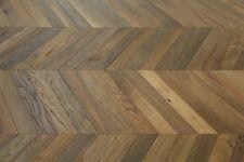Oak Smoked, Brushed & Natural Oiled Chevron Flooring 600*90*18/4mm SR1806 Sample