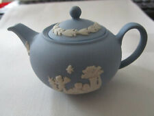 seltene Wedgwood Jasperware Miniatur Teekanne ca. 4-5cm hoch