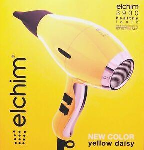 ELCHIM 3900 HEALTHY IONIC 2000W-2400W PRO HAIR DRYER  YELLOW DAISY 836793006505