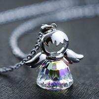 Halskette Schutzengel Anhänger 925 Silber mit Kristallen von Liebe