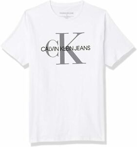 NEW Calvin Klein Jeans BOYS T -Shirt Sleeve Classic Ck Logo Crew Neck S M L XL
