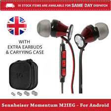 Sennheiser Momentum 2.0 M2IEG In Ear Headphones For Samsung Android - Red - U.K
